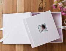 álbum artesanal – newborn m. clara | carla d'aqui fotografia
